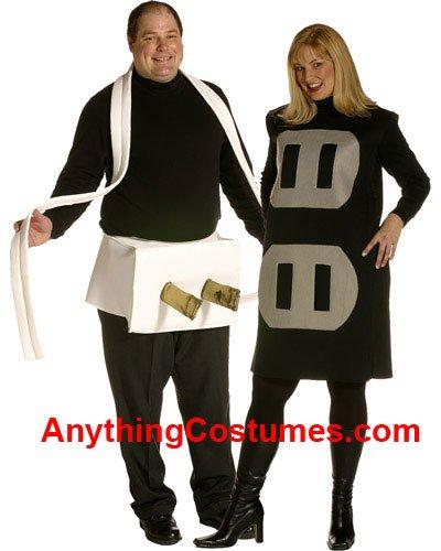 [Plug and Socket Set Costume Set - Plus Size - Chest Size 50-52] (Plug And Socket Costumes)