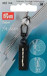 Prym - Tirador de repuesto para cremallera (piel), color negro