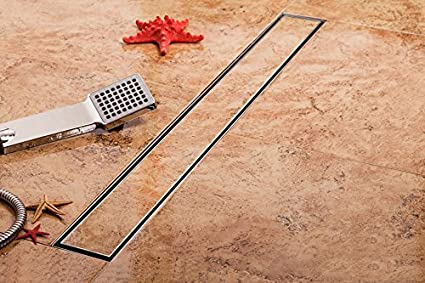 Tsd ss piastrelle inserto doccia griglia con centro di nichel