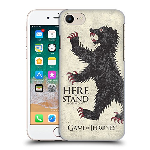 Price comparison product image Official HBO Game Of Thrones Mormont House Mottos Hard Back Case for Apple iPhone 7