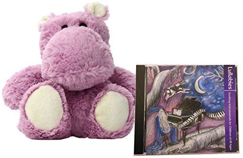 Instrumental Pack - Intelex Cozy Microwavable Plush Hippo Hot & Cold Therapy Bundle with Natural Sleep Aid Lullaby CD