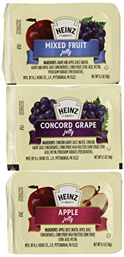 Heinz Jelly Assortment, 0.5 oz. pack, Pack of (Heinz Jam)