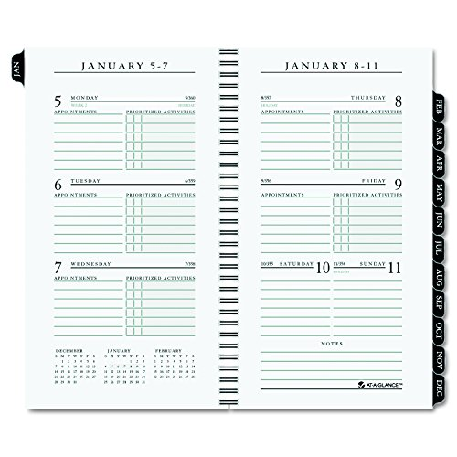 (At-A-Glance Weekly Appointment Book Refill for 70-NL02 - 70-020 3 1/4 x 6 1/4  2011)