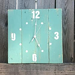 Seeka Decor Distressed Finished Large Wall Clock - 12 Square