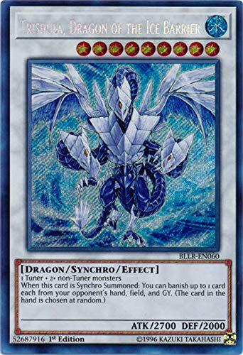 Yu-Gi-Oh! - Trishula, Dragon of The Ice Barrier - BLLR-EN060 - Secret Rare - 1st Edition - Battles of Legend: Light's Revenge (Trishula Dragon Of The Ice Barrier Price)