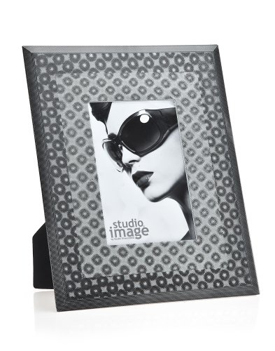 3d Black Circles 4x6 Picture Frame
