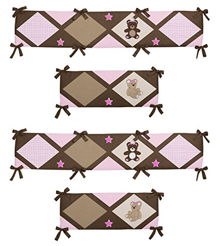 Pink Teddy Bear Design (Sweet Jojo Designs Pink Teddy Bear Collection Crib Bumper)