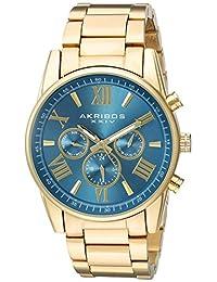 Akribos XXIV AK908TQ Women's Swiss Quartz Metal and Stainless Steel Automatic Watch, Gold-Toned