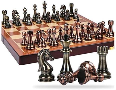 GSAGJxq Juegos de ajedrez for Adultos y niños con Tablero de Juego de Madera Plegable Grande y Almacenamiento for Las Piezas de ajedrez de Madera artesanales: Amazon.es: Hogar