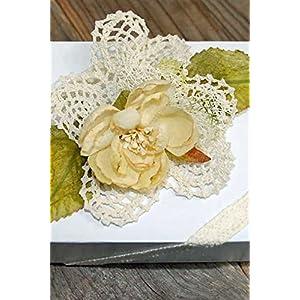 "Dexon Power 12 Pineapple Crochet Doilies 4"" Size 93"