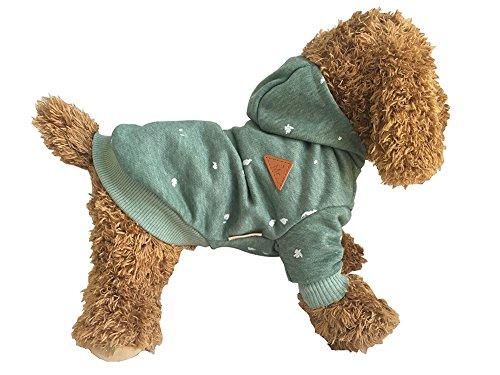 애완동물복 개와 고양이 파커 모자 부착 면제 귀여운 소형견용 패션 멋쟁이 인기 도그 웨어 견양복 따뜻하 방한 추동춘 실내 외출 산책XS
