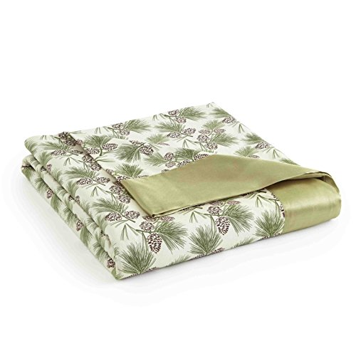 - Thermee Micro Flannel Year-Round Sheet Blanket, Pine Bough, King