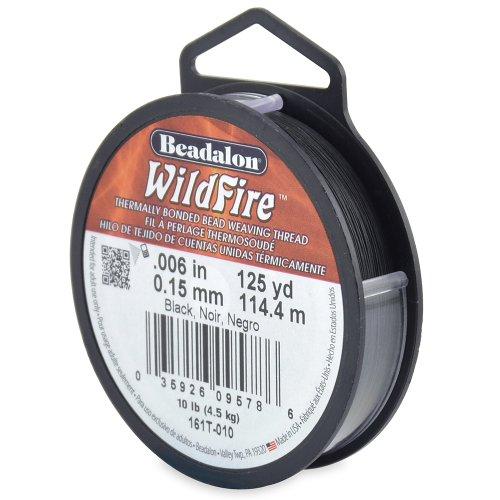 Beadalon WildFire .006-Inch Black, 125-Yard (Black Beading)