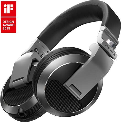 Silver Headphones Headphones (Pioneer Pro DJ Silver (HDJ-X7-S Professional DJ Headphone))