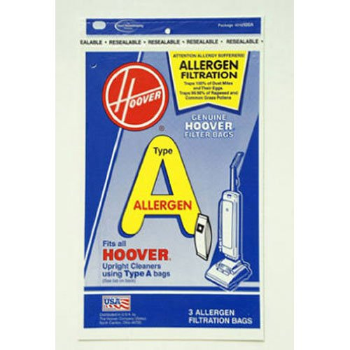 Hoover Type A Allergen Bag - 3 pack, 4010100A (Hoover Elite Vacuum Filter compare prices)