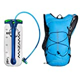 Hydration Reservoir Pack – 2 or 3 Liter Water Bladder – Tasteless & BPA Free – Multifunction Kit – USA Made Film – Mazama – Tumalo (Blue 2L)
