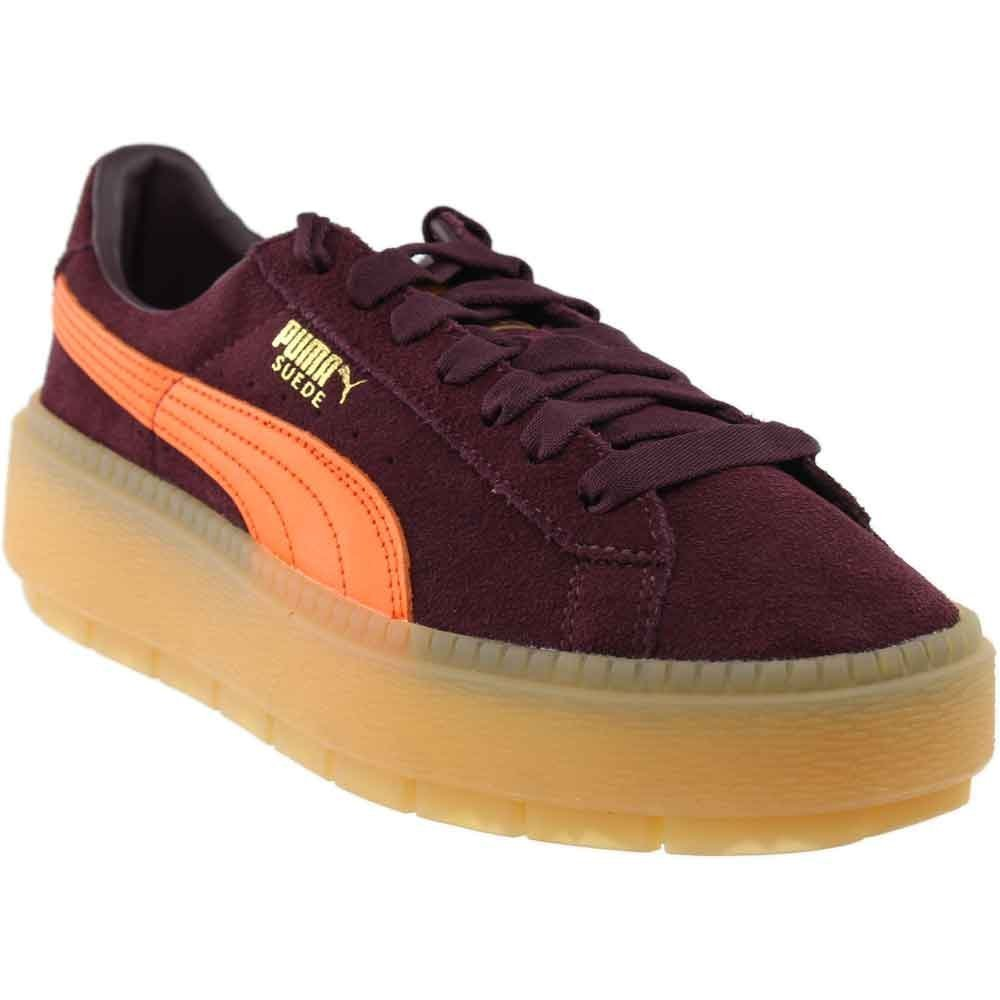 PUMA Women's Suede Platform Trace Block Winetasting/Flame 6.5 B US