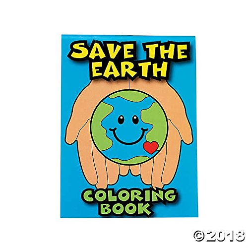 Fun Express Save the Earth Coloring / Sticker / Activity Books - Pack of 24