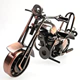 lanbing Classic Handmade Wrought Iron Motorcycle Model Collectible Art Sculpture Motorbike For Home Decor Creative Desk Table Decoration Ornaments Toys Gifts (A15)