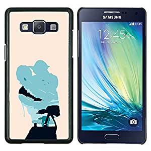 "Be-Star Único Patrón Plástico Duro Fundas Cover Cubre Hard Case Cover Para Samsung Galaxy A5 / SM-A500 ( Minimalista Estrella Guerra Yoda y Lucas"" )"