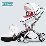 Multi-Functional 3 in 1 High-Landscape Baby Stroller Travel System 2017,white