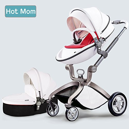 Multi-Functional 3 in 1 High-Landscape Baby Stroller Travel System 2017,white