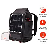 Voltaic Systems OffGrid 10 Watt Rapid Solar Backpack Charger | Includes a Battery Pack (Power Bank) and 2 Year Warranty | Powers Phones Including Apple iPhone, Tablets, USB Devices, More - Silver