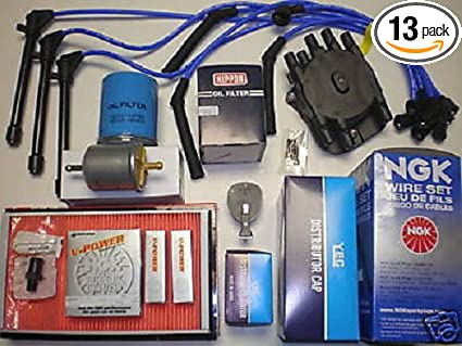 tune up kit nissan quest 1993-1997 tune up kit mercury villager 1993-1997  includes air filter fuel filter oil filter pcv valve six ngk spark plugs  ngk