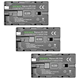 Neewer 3 Pieces 2600mAh Li-ion Replacement Battery for Sony F550/570/530,Rechargeable Battery for Sony HandyCams, Neewer CN-160 CN-216 LED Light, Neewer 759 74K 760 Feelworld 759 74K 760 Field Monitor