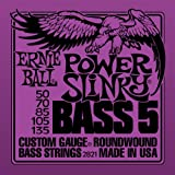Ernie Ball 5-String Power Slinky Nickel Wound Bass Set, .050 - .135