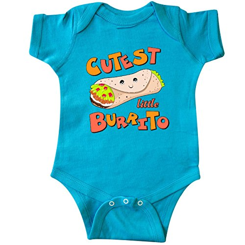 Onesie Food (inktastic Cutest Little Burrito Infant Creeper Newborn Turquoise)