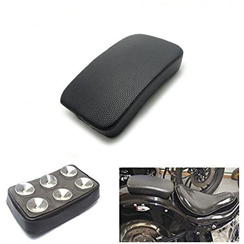 HANSWD Rectangular Pillion Passenger Pad Seat 6 Suction Cup For Custom Chopper (Best Motorcycle For Pillion Passenger)