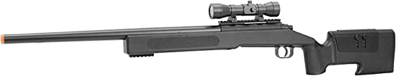 BBTac Airsoft Sniper Rifle M62 - Bolt Action Powerful Spring Airsoft Gun