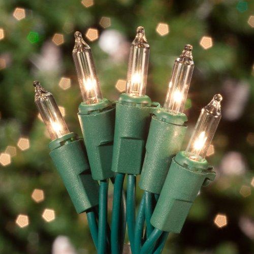 Icicle Christmas Lights Green Wire: Amazon.com