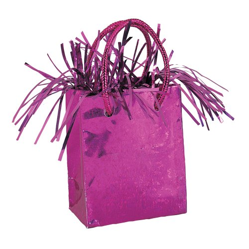 Gift Bag Shaped Hot Pink Balloon (Gift Bag Balloon Weight)