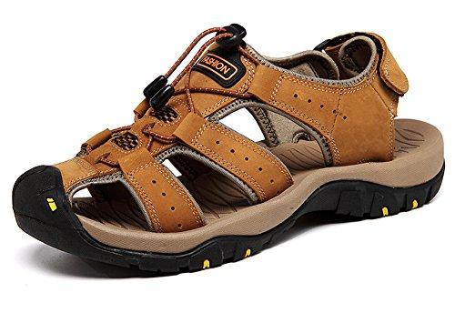 Casual Regolabile Maesty Sandali Pantofole Gli di Uomini Cintura Giallo Sport Pantofole Spiaggia Estate Aperta All'Aria xqZAUqO8