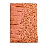 Kimloog Clearance!PU Leather Passport Cover Holder RFID Blocking Men Women Travel Wallets (Orange)