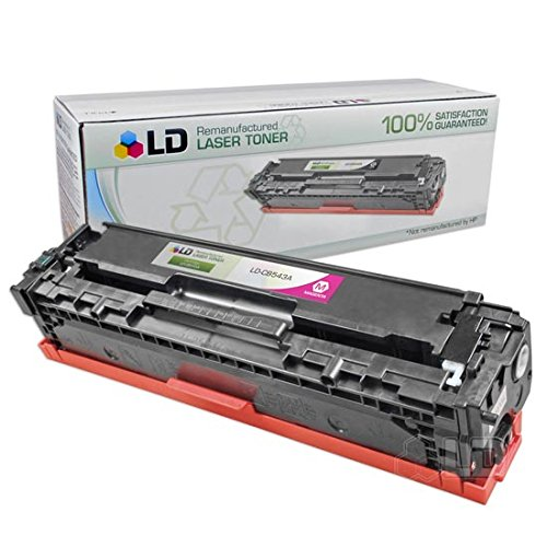 LD Remanufactured Toner Cartridge Replacement for HP 125A CB543A - Toner 125a Magenta