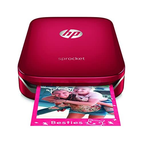 chollos oferta descuentos barato HP Sprocket Impresora fotográfica portátil impresión sin tinta Bluetooth 5 x 7 6 cm impresiones color rojo