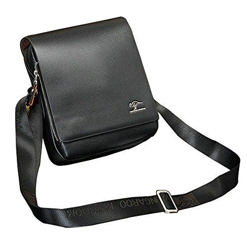 Color Document Missfox Small Work Solid Briefcase Adjustable Bag Vertical Men Office Black Shoulder Girdle rI5aSq5w
