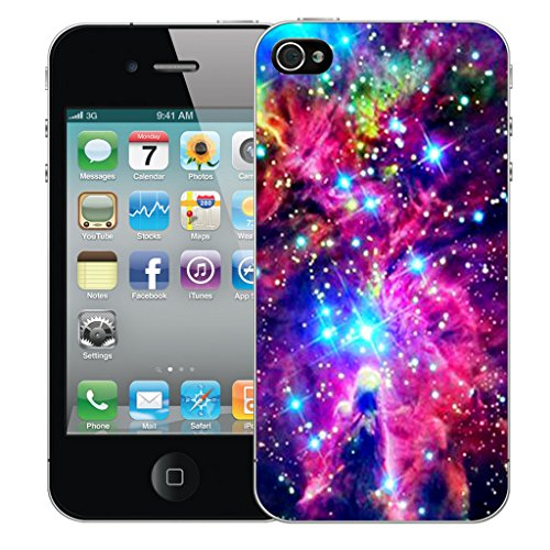 Mobile Case Mate iPhone 4s Silicone Coque couverture case cover Pare-chocs + STYLET - Cosmic pattern (SILICON)