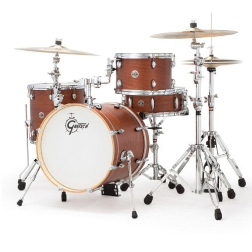 (Gretsch CT1J484SWG 2014 Catalina Club Jazz 4-Piece Shell Pack - Satin Walnut Glaze)