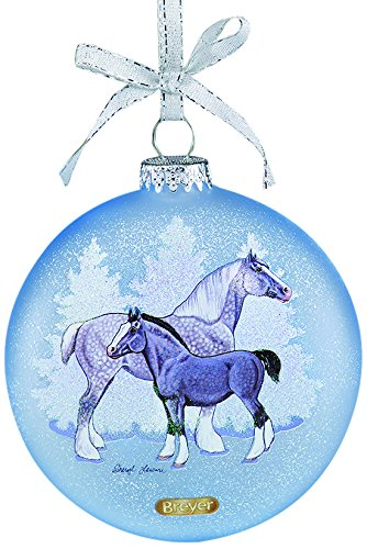 Breyer Artist Signature Draft Horses Ornament (Christmas Draft Horse)