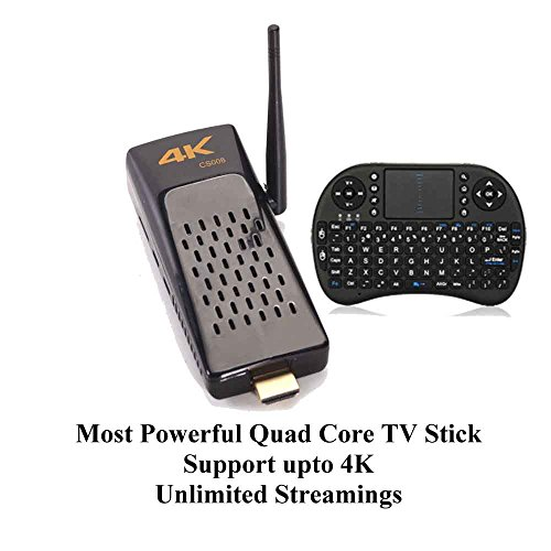 KUKELE Strongest TV STICK Android Media Player [Quad Core RK3288/2GB+8GB/4K/Instruction/Wireless Keyboard] by KUKELE
