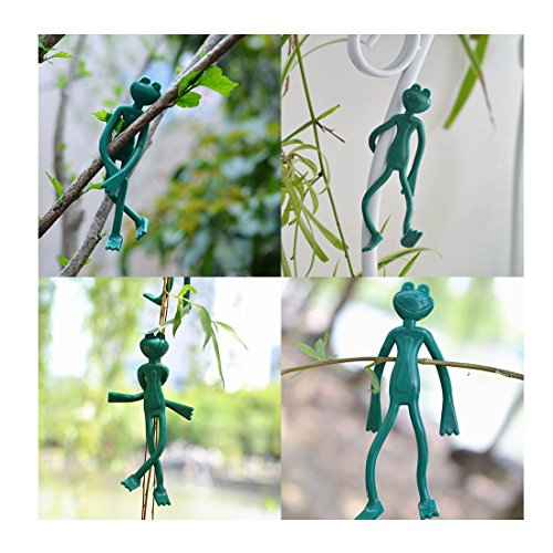 Magic&Shell 10pcs Decorative Plant Tie Twist Bendable Reusable Plant Cable Ties Twisting Garden Tie Frog by Magic&Shell (Image #4)