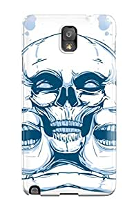 Tpu Case Cover For Galaxy Note 3 Strong Protect Case Skull Triptych Design