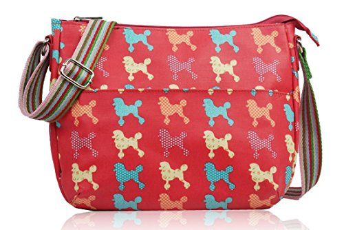 Kukubird Messenger Rainbow Polkadots Poodle Gym Various Bag Sling Strap amp; Red Butterfly Flowers School Pattern Stars Crossbody 8Tg18cS