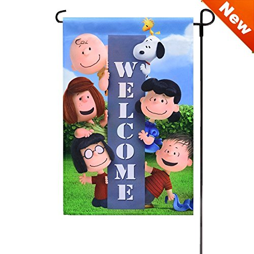 Jetmax Peanuts SPRING PEANUTS WELCOME GARDEN FLAG 12