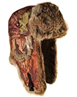Mad Bomber Saddlecloth Bomber Cap with Real Fur
