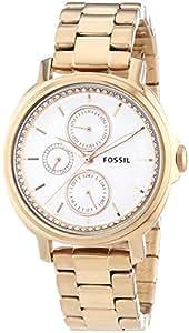 Fossil ES3353 - Reloj (Reloj de pulsera, Femenino, Acero inoxidable, Bronce, Acero inoxidable, Bronce)